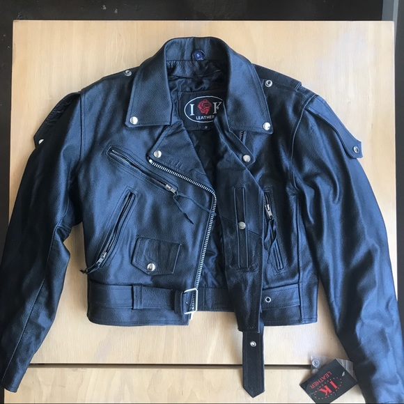 ac1e53c3fd9a NWT Authentic women s leather motorcycle jacket